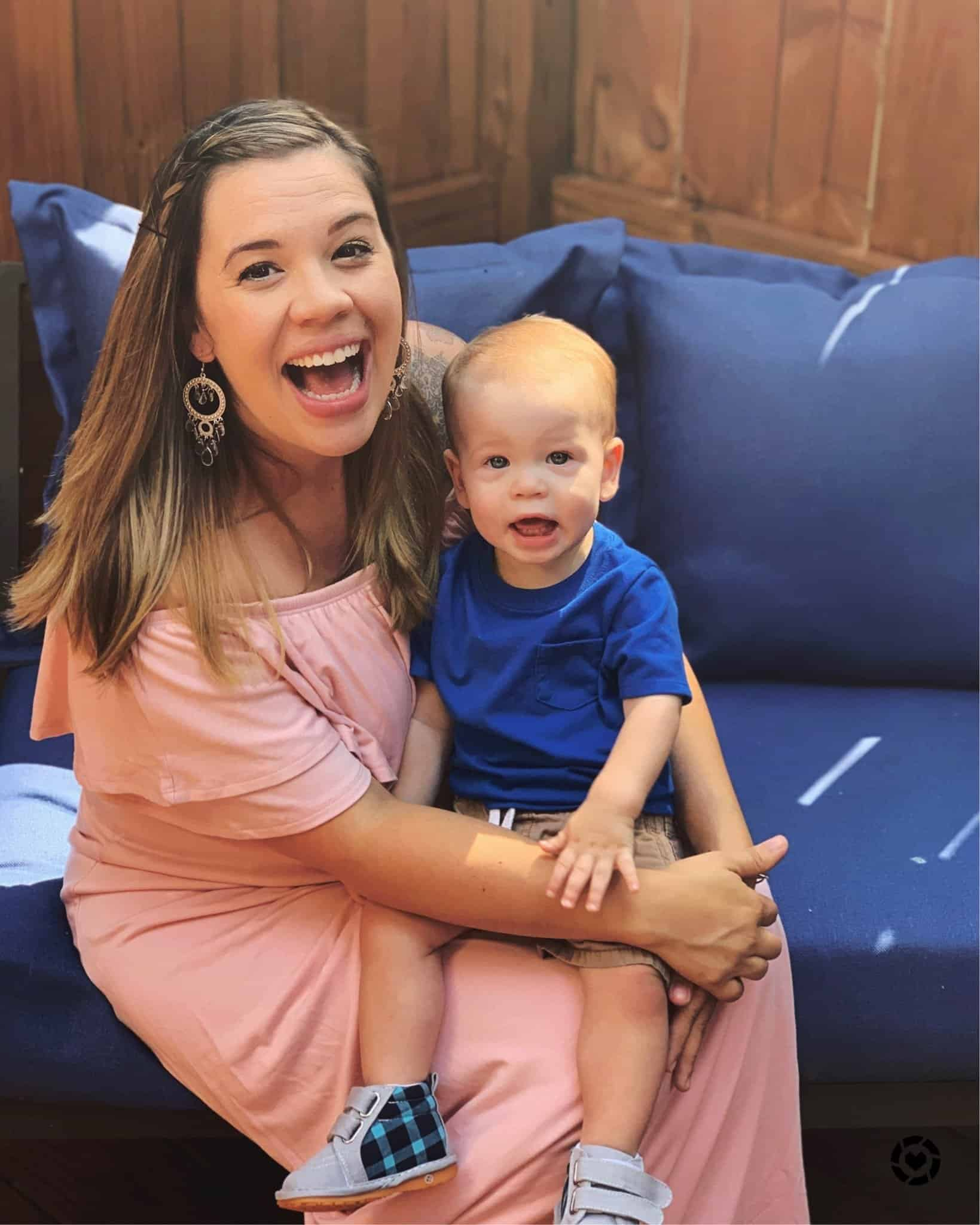 Pink Off Shoulder Maternity Maxi Dress