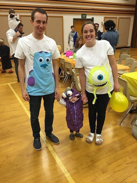 Monsters Inc Pregnancy Family Costume
