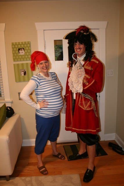 Smee and Captain Hook Pregnancy Costume