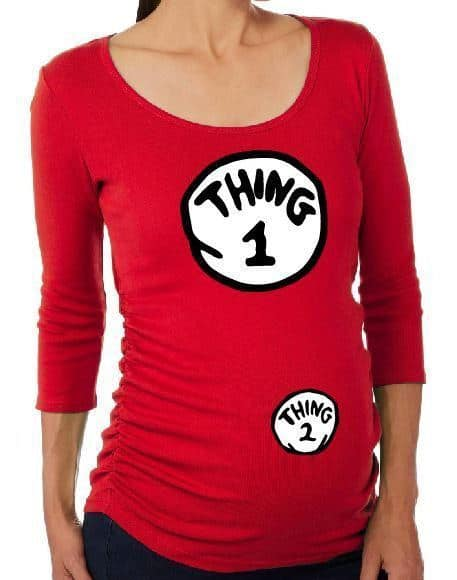 thing 1 and 2 pregnancy costume