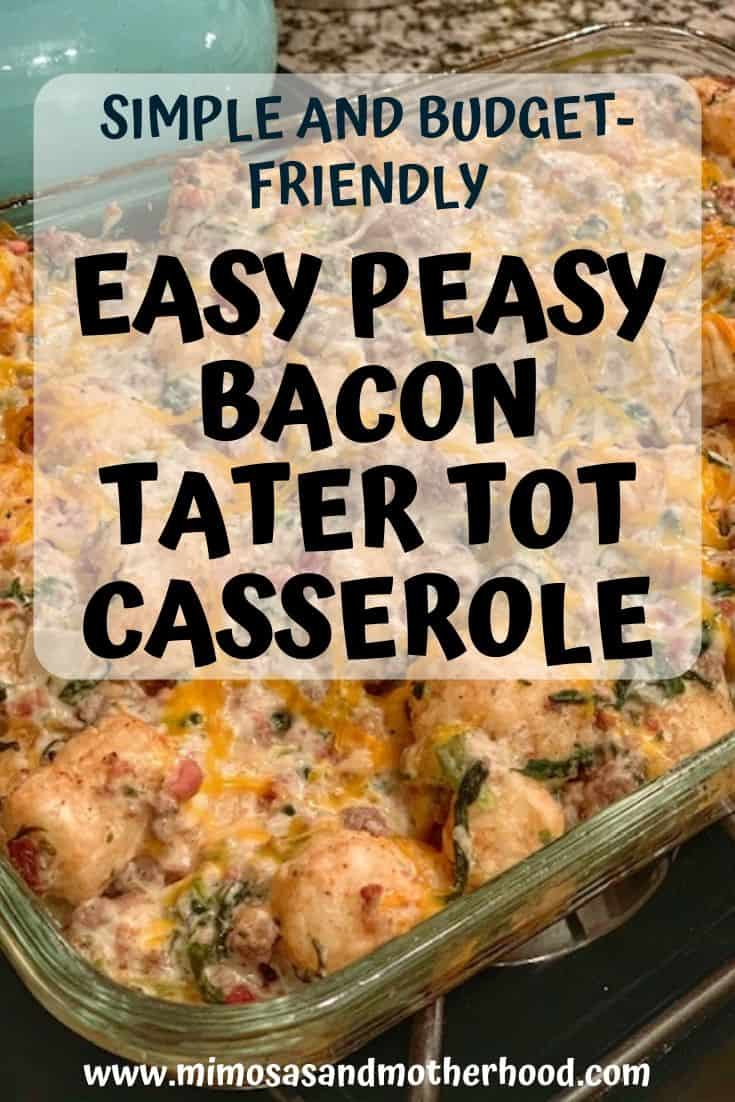 Easy Peasy Tater Tot Casserole