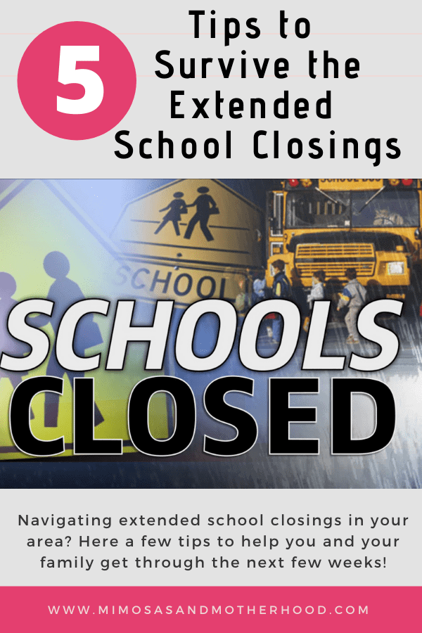 5 Tips to Survive the Extended School Closings