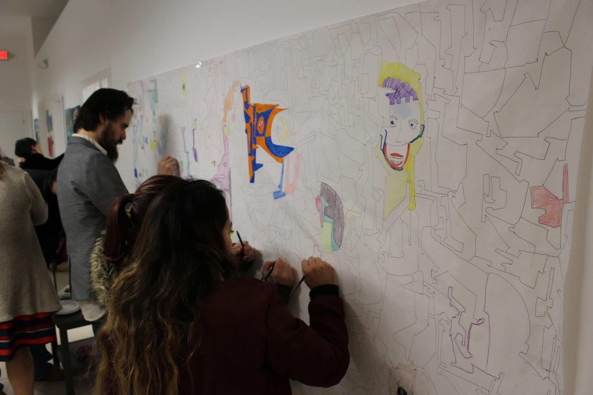 graffiti wall for kids indoors
