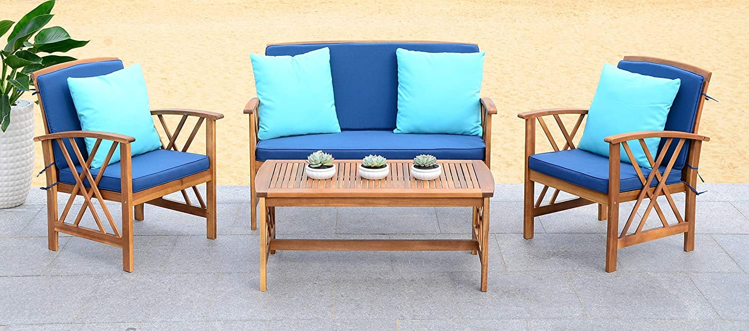 teak 4 piece outdoor set