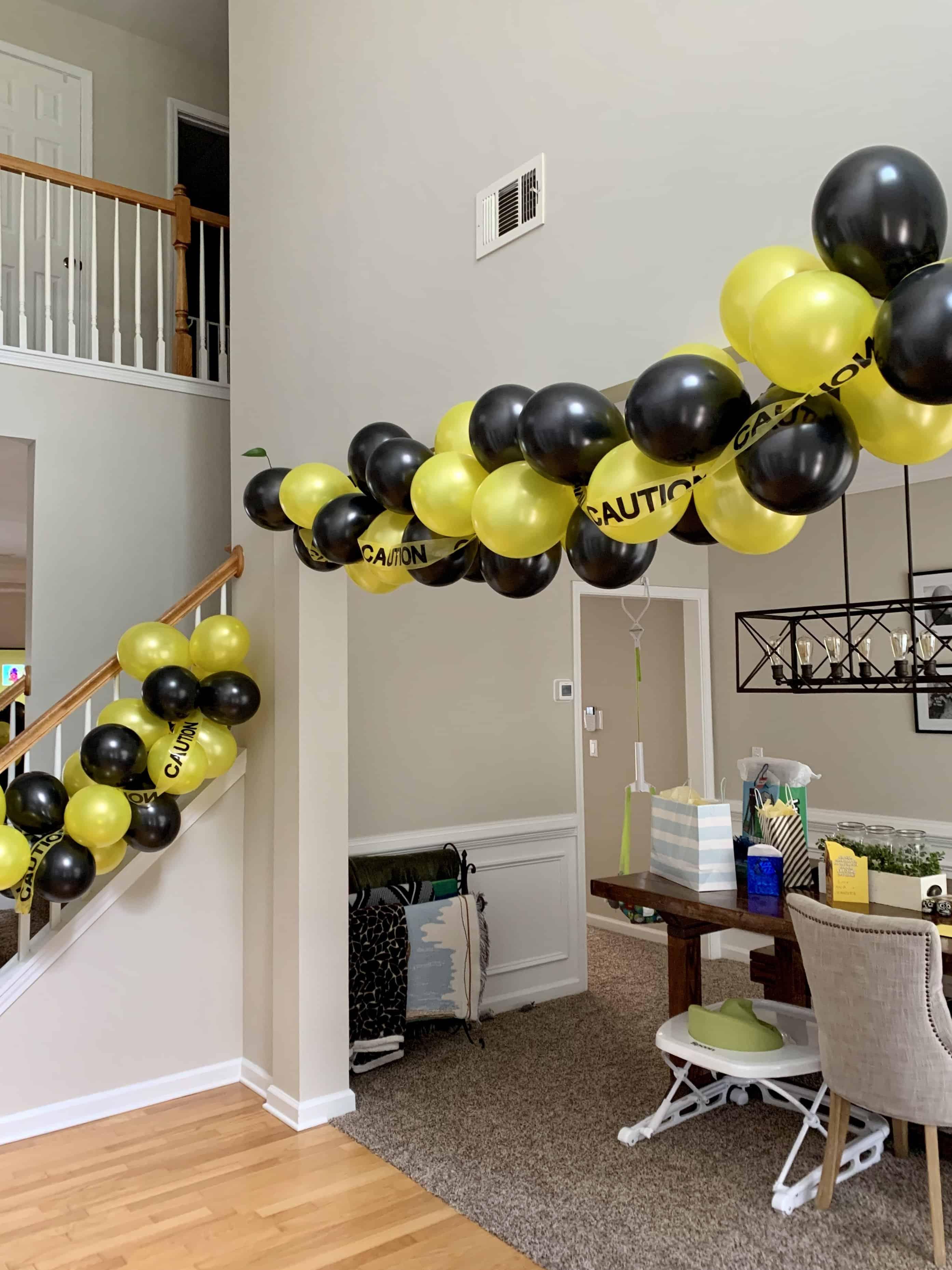 quarantine birthday balloon garland