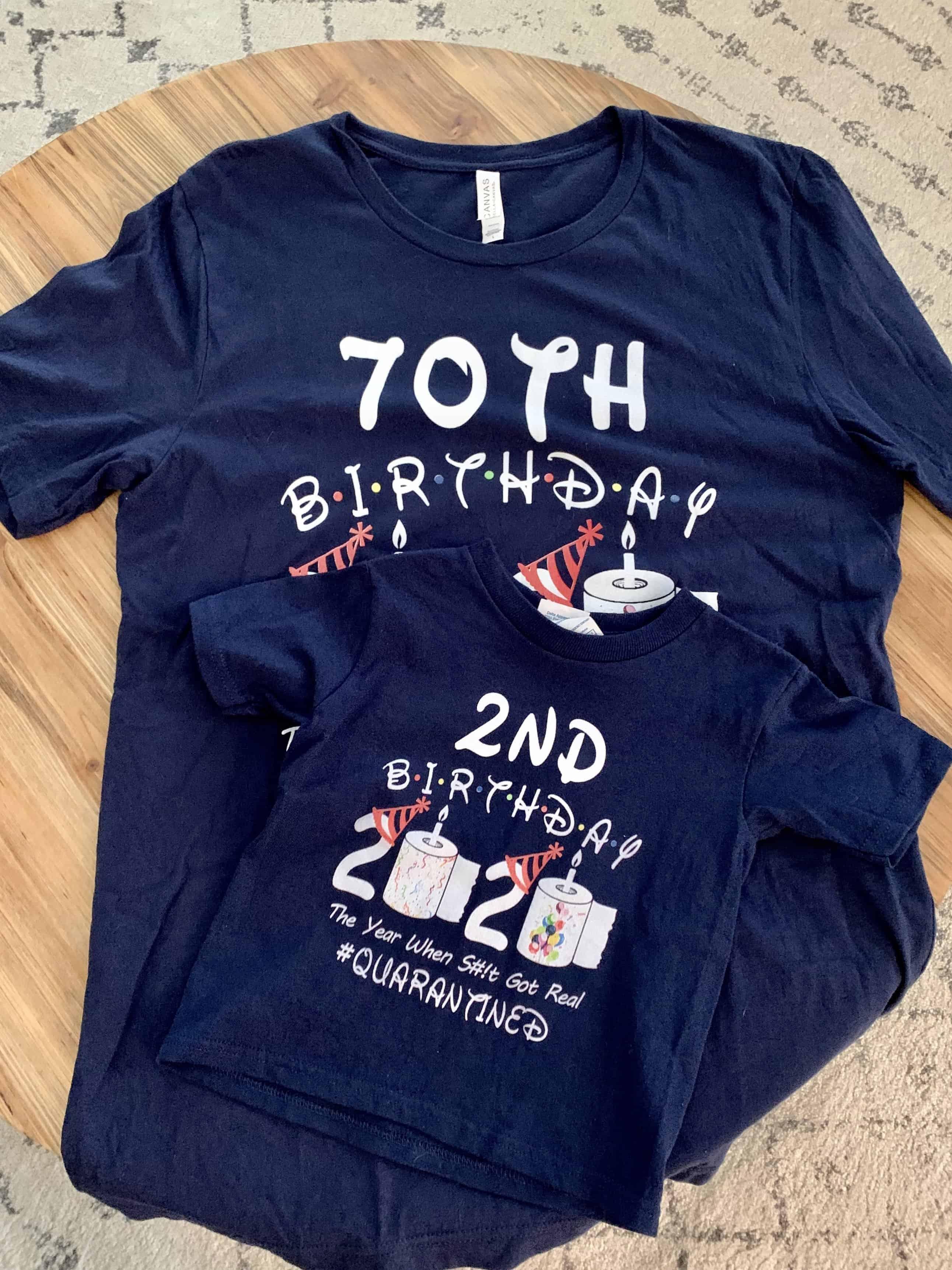 Quarantine birthday t-shirts