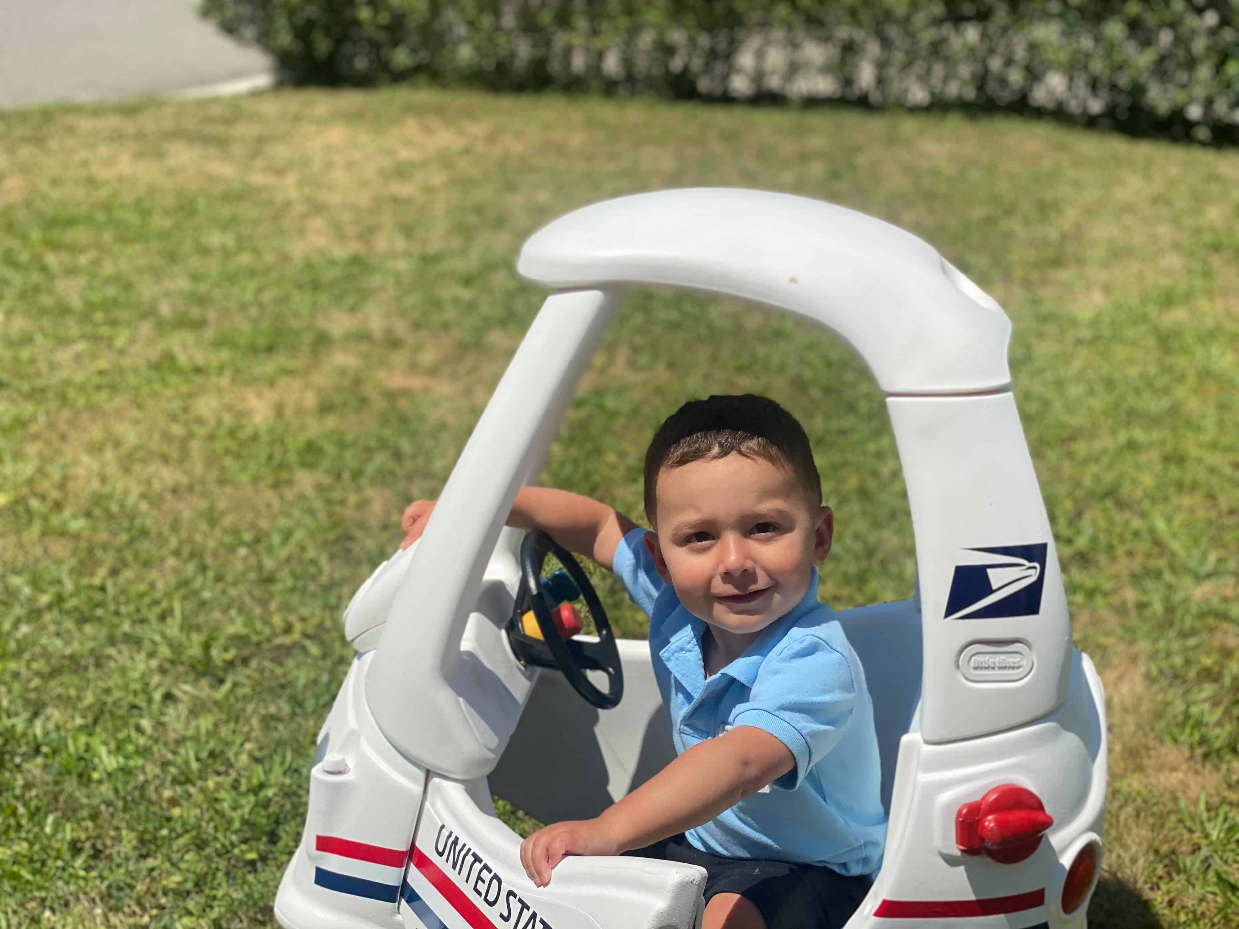 USPS Mail Truck Cozy Coupe Makeover